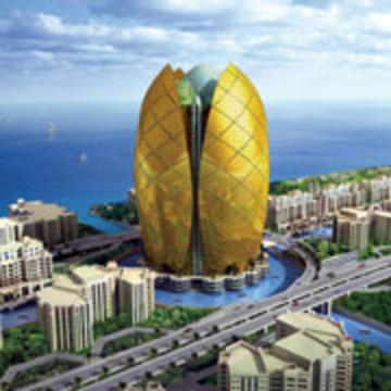 Palm island for D shaped hotel in dubai