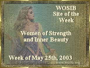 Thank You Ladies of WOSIB.  Received-May 26, 2003 in honor of the 3rd Anniversary