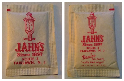 Jahn's sugar packet