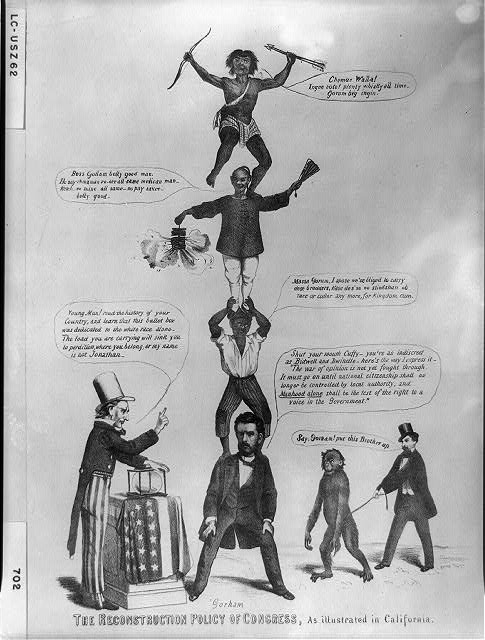 Black History Month,  Reconstruction Policy, Library of Congress, Prints and Photographs Division [reproduction number, LC-USZC4-5758]