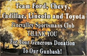 TEAM FORD Donated Money for the Gun Bash, visit them!!